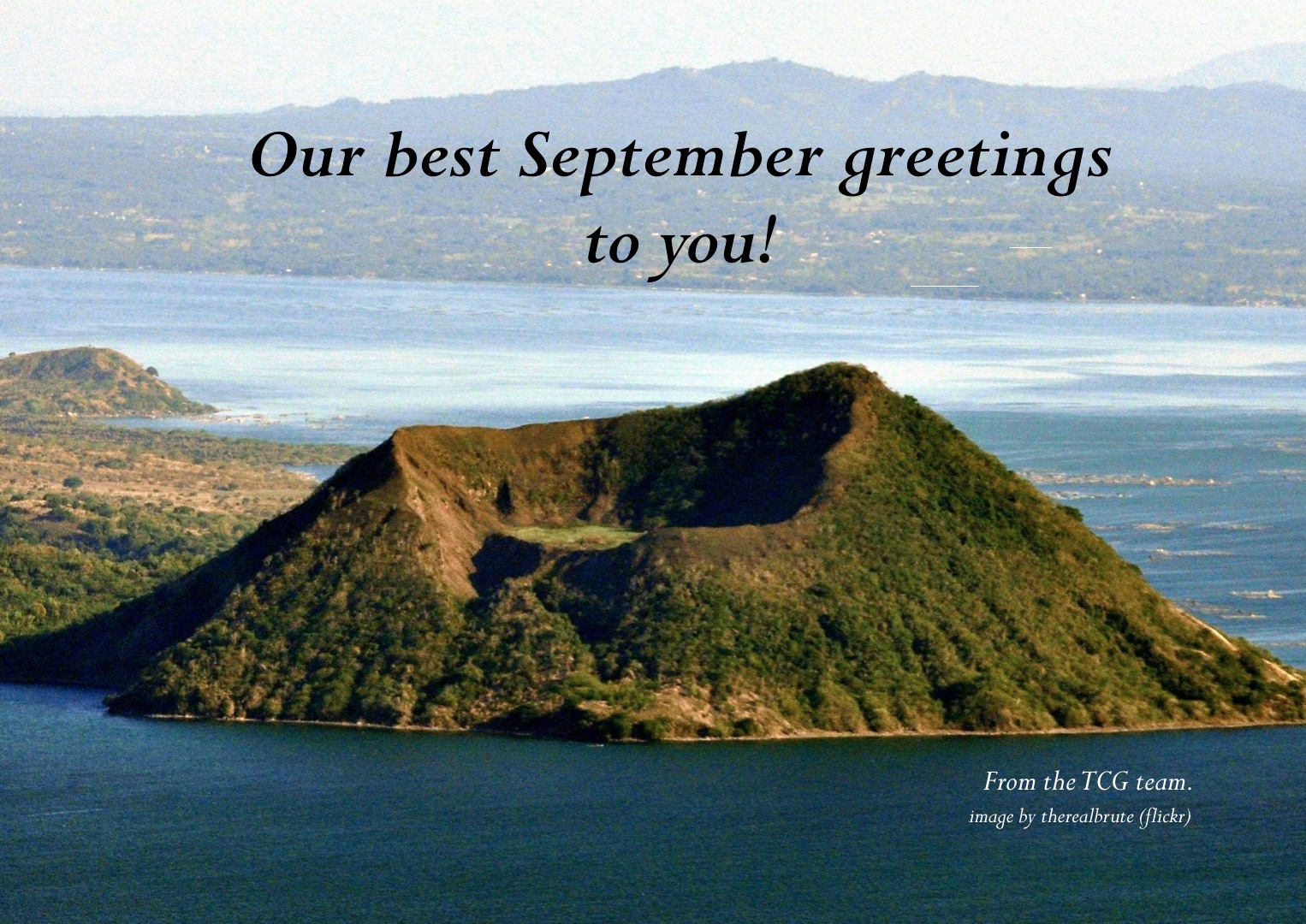 TCG Newsletter 2020 September greetings